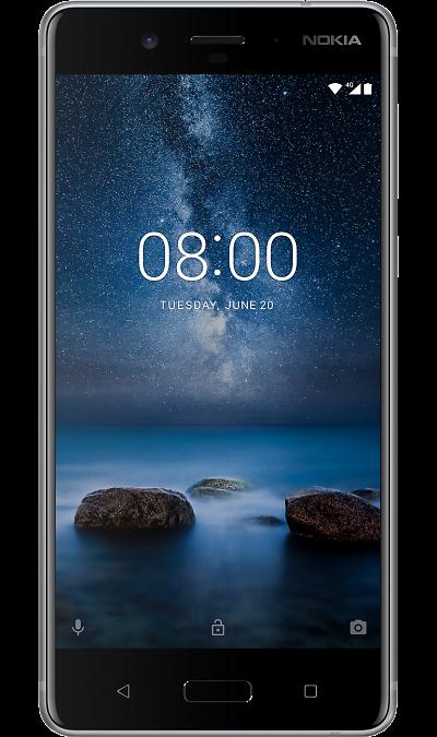 Nokia 8 Матовый стальнойСмартфоны<br>2G, 3G, 4G, Wi-Fi; ОС Android; Камера 13 Mpix, AF; Разъем для карт памяти; MP3, FM,  GPS / ГЛОНАСС; Повышенная защита корпуса; Вес 160 г.<br><br>Colour: Серый