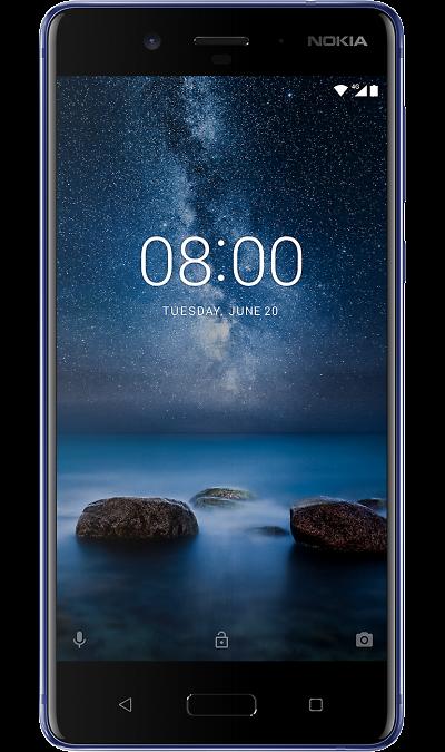 Nokia 8 Глянцевый индигоСмартфоны<br>2G, 3G, 4G, Wi-Fi; ОС Android; Камера 13 Mpix, AF; Разъем для карт памяти; MP3, FM,  GPS / ГЛОНАСС; Повышенная защита корпуса; Вес 160 г.<br><br>Colour: Синий