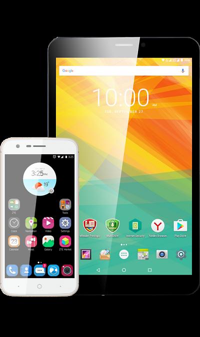 Школьный комплект: смартфон ZTE Blade V8 Lite Gold + планшет Prestigio PMT3118Смартфоны<br><br>