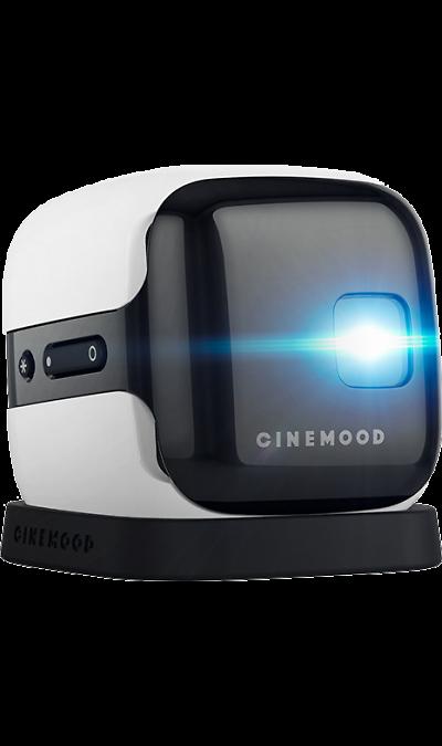 CINEMOOD StorytellerДругие устройства<br>CINEMOOD <br>Первый в мире портативный мини-проектор для дома и путешествий. Проекционный экран с диагональю 3 метра на любую поверхность без дополнительного оборудования. Уже внутри: ТВ каналы, сериалы, диафильмы, мультики. Возможность загрузки собственных файлов: видео, аудио, фото, презентации. <br>Надежный спутник в путешествиях. Помещается в любую сумку. Устраивайте настоящие киносеансы в любом месте - в самолете, машине или кемпинге под открытым небом.<br>Самый необычный и удивляющий ...<br><br>Colour: Белый