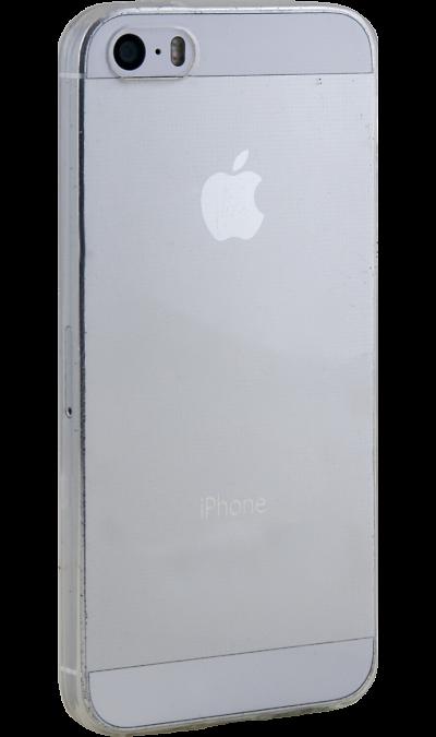 RedLine Чехол-крышка RedLine Ibox Crystal для Apple iPhone 5/5S, силикон, прозрачный аксессуар чехол ibox blaze для apple iphone 5 5s se pink