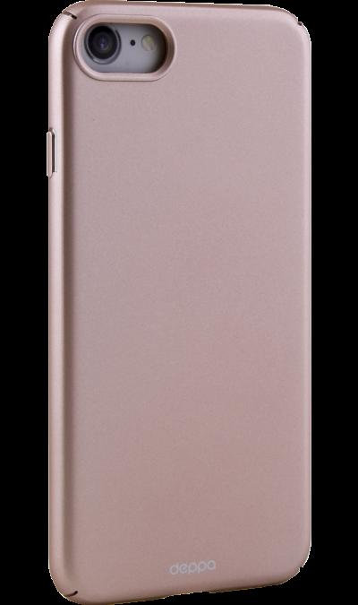 Чехол-крышка Deppa Air Case для Apple iPhone 7/8, пластик, розовое золотоЧехлы и сумочки<br>Чехол Deppa поможет не только защитить ваш iPhone от повреждений, но и сделает обращение с ним более удобным, а сам аппарат будет выглядеть еще более элегантным.<br><br>Colour: Золотистый