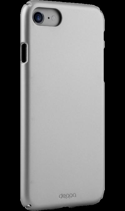 Deppa Чехол-крышка Deppa Air Case для Apple iPhone 7/8, пластик, серебристый чехол клип кейс deppa air case для apple iphone 7 8 черный [83267]
