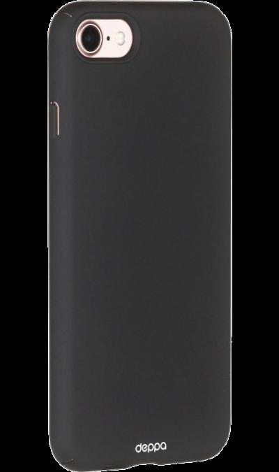 Deppa Чехол-крышка Deppa Air Case для Apple iPhone 7/8, пластик, черный чехол для планшета apple leather case iphone 8 7 taupe платиново серый mqh62zm a