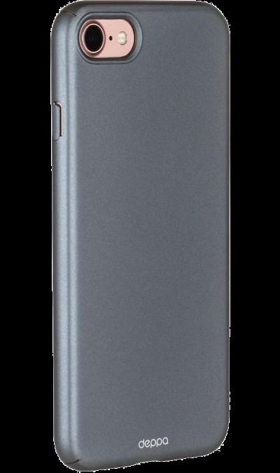 Deppa Чехол-крышка Deppa Air Case для Apple iPhone 7/8, пластик, серый чехол для планшета apple leather case iphone 8 7 taupe платиново серый mqh62zm a