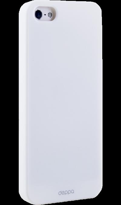 Чехол-крышка Deppa Air Case для Apple iPhone 5/5S, пластик, белыйЧехлы и сумочки<br>Чехол поможет не только защитить ваш iPhone 5/5S от повреждений, но и сделает обращение с ним более удобным, а сам аппарат будет выглядеть еще более оригинальным.<br><br>Colour: Белый