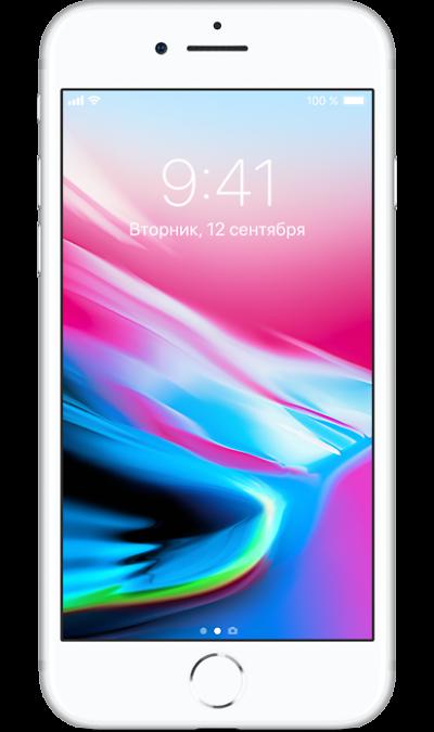 Apple iPhone 8 64GB SilverСмартфоны<br>2G, 3G, 4G, Wi-Fi; ОС iOS; Камера 12 Mpix, AF; MP3,  GPS / ГЛОНАСС; Повышенная защита корпуса; 14.0 ч.; Вес 148 г.<br><br>Colour: Белый