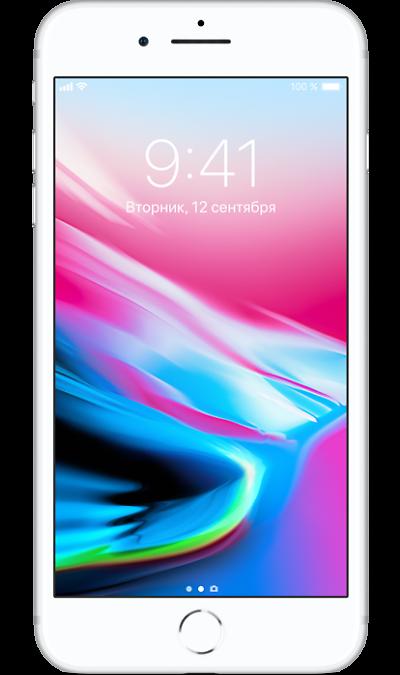 Apple iPhone 8 Plus 64GB SilverСмартфоны<br>2G, 3G, 4G, Wi-Fi; ОС iOS; Камера 12 Mpix, AF; MP3,  GPS / ГЛОНАСС; Повышенная защита корпуса; 21.0 ч.; Вес 202 г.<br><br>Colour: Белый