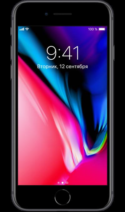 Apple iPhone 8 256GB Space GrayСмартфоны<br>2G, 3G, 4G, Wi-Fi; ОС iOS; Камера 12 Mpix, AF; MP3,  GPS / ГЛОНАСС; Повышенная защита корпуса; 14.0 ч.; Вес 148 г.<br><br>Colour: Черный