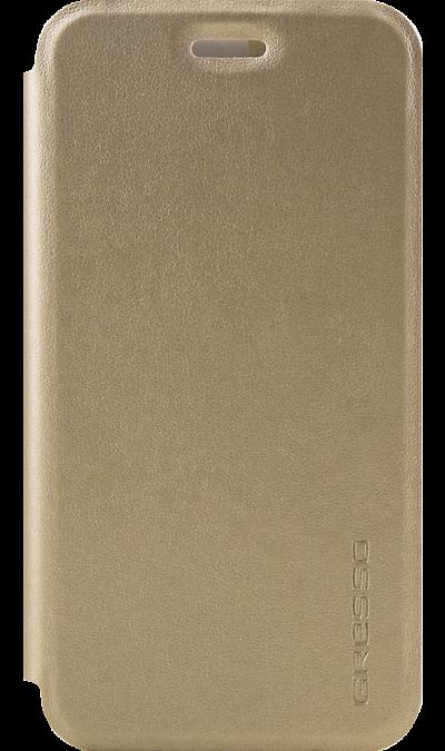 Чехол-книжка Gresso для Xiaomi Redmi 4X, кожзам, золотистыйЧехлы и сумочки<br>Удобный чехол для Xiaomi Redmi 4x поможет не только защитить ваш смартфон от повреждений, но и сделает обращение с ним более удобным, а сам аппарат будет выглядеть еще более элегантным.<br><br>Colour: Золотистый