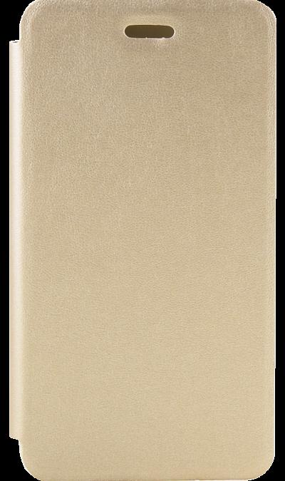 Чехол-книжка Gresso для Xiaomi  Redmi 4A, кожзам, золотистыйЧехлы и сумочки<br>Удобный чехол для Xiaomi Redmi 4A поможет не только защитить ваш смартфон от повреждений, но и сделает обращение с ним более удобным, а сам аппарат будет выглядеть еще более элегантным.<br><br>Colour: Золотистый
