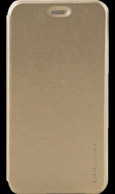 Чехол-книжка Gresso для ASUS ZC554KL, кожзам, золотистыйЧехлы и сумочки<br>Чехол поможет не только защитить ваш ASUS ZC554KL от повреждений, но и сделает обращение с ним более удобным, а сам аппарат будет выглядеть еще более элегантным.<br><br>Colour: Золотистый