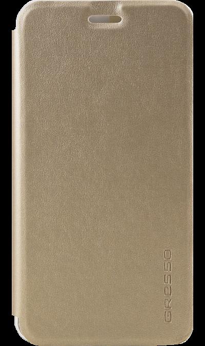 Gresso Чехол-книжка Gresso Absolut Air для Meizu M5s, кожзам, золотистый gresso чехол книжка gresso absolut air для zte axon 7 mini кожзам золотистый
