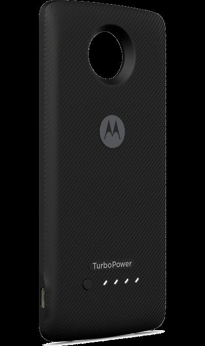 Модуль Motorola Аккумулятор Turbo BatteryДругие устройства<br>Модуль Moto TurboPower Pack оснащен дополнительным аккумулятором на 3490 мАч, который добавляет Moto Z2 Play целый день автономной работы и позволяет заряжать собственную батарею смартфона в ускоренном режиме. Модуль заряжает смартфон на мощности до 15 Вт, а сам заряжается от сети на мощности до 30 Вт, что дает возможность пополнить его аккумулятор на 50% всего за 20 минут.<br>