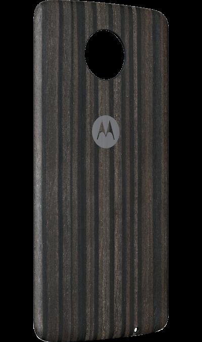 Модуль Motorola Сменная панель тёмное деревоДругие устройства<br>Стильные сменные панели<br>Подчеркни собственный стиль с помощью великолепных задних панелей премиум-класса. <br>Немного изящества и стиля<br>Сменные панели Moto Style Shell имеют обтекаемую форму для комфортного использования и легко крепятся к твоему телефону, почти не добавляя веса. Выбери один из вариантов панелей, изготовленных из материалов высшего качества, например из натурального дерева или кожи, или панель из узорчатой ткани.<br> <br>Меняй образы за считанные ...<br>