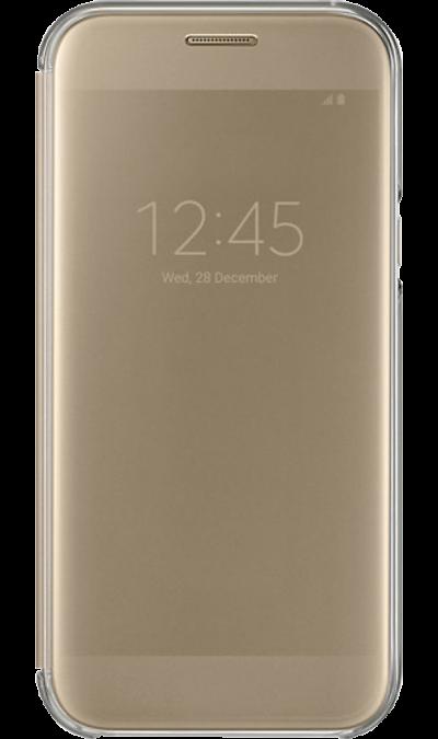 Samsung Чехол-книжка  для Galaxy A5 (2017), полиуретан, золотистый (без окошка)