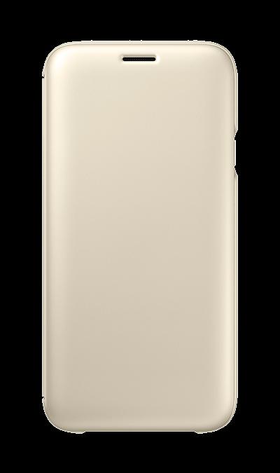 Чехол-книжка Samsung  для Galaxy J7 (2017), полиуретан, золотистыйЧехлы и сумочки<br>Чехол поможет не только защитить ваш Samsung Galaxy J7 (2017) от повреждений, но и сделает обращение с ним более удобным, а сам аппарат будет выглядеть еще более элегантным.<br><br>Colour: Золотистый