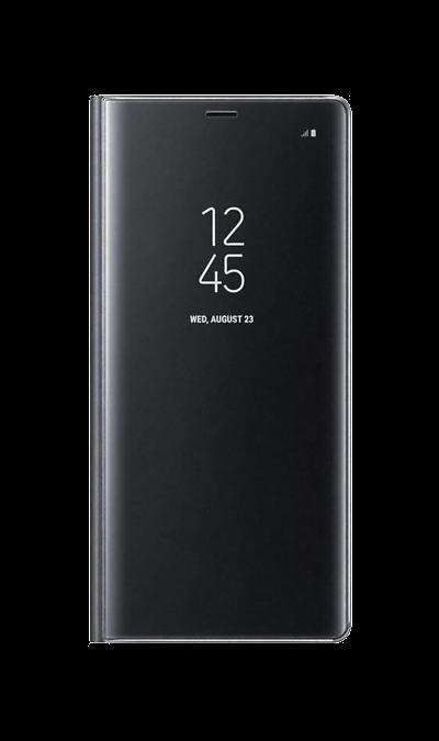 Samsung Чехол-книжка Samsung для Galaxy Note8, полиуретан, черный чехол для samsung galaxy note printio сад земных наслаждений
