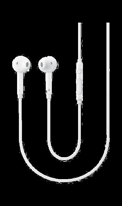 Проводная гарнитура Samsung EG920LWEGRU, стерео (белая)Наушники и гарнитуры<br>Улучшенное звучание и максимальная комфортность<br>Оцените удобство и надёжную фиксацию гарнитуры в ушной раковине благодаря эргономично разработанным ушным вкладышам и дужкам крепления. Гибридный дизайн сочетает в себе всё лучшее, созданное для гарнитур и обычных наушников ? сочетание удобных внутриканальных вкладышей, обеспечивающих прекрасную звукоизоляцию, с комфортом обычных накладных наушников.<br>Чистый звук и отличная проработка низких частот<br><br>Оптимизированная ...<br><br>Colour: Белый