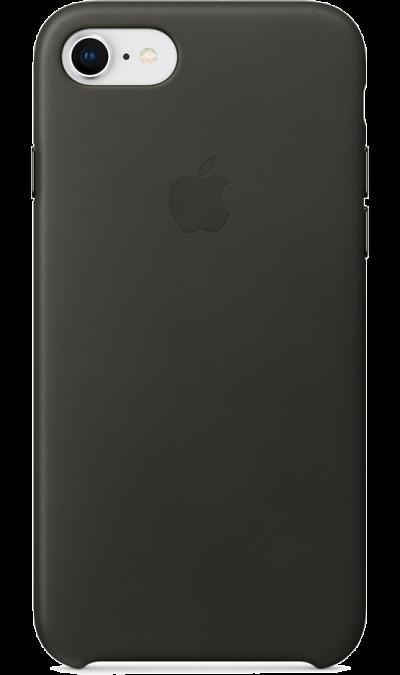 Apple Чехол-крышка Apple MQHC2ZM для Apple iPhone 7/8, кожа, серный apple чехол крышка apple mqha2zm для apple iphone 7 8 кожа красный