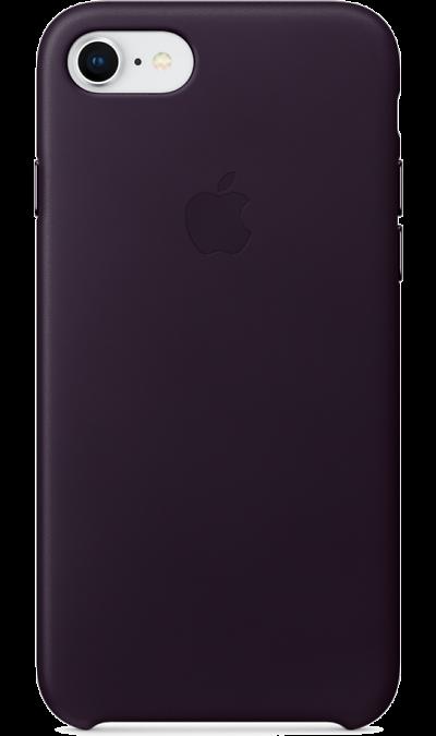 Чехол-крышка Apple MQHD2ZM для Apple iPhone 7/8, кожа, фиолетовыйЧехлы и сумочки<br>Кожаный чехол iPhone 7/8 плотно прилегает к кнопкам громкости и режима сна, точно повторяет контуры телефона, но при этом не делает его громоздким. Мягкая подкладка из микроволокна защищает корпус iPhone. А его внешняя силиконовая поверхность очень приятна на ощупь.<br><br>Colour: Фиолетовый