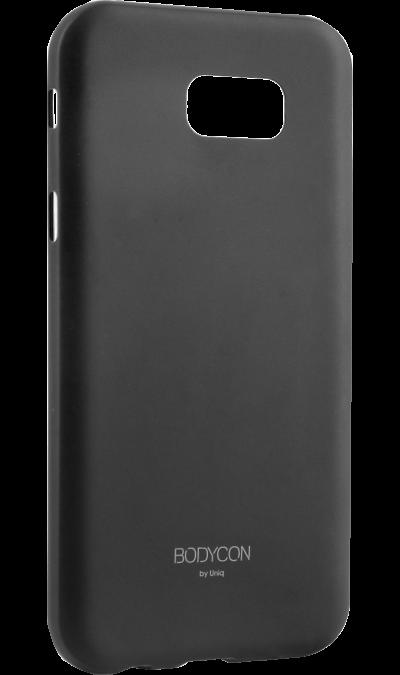 Чехол-крышка Uniq Bodycon для Samsung Galaxy A7 (2017), пластик, черныйЧехлы и сумочки<br>Чехол Samsung поможет не только защитить ваш Samsung Galaxy A7 (2017) от повреждений, но и сделает обращение с ним более удобным, а сам аппарат будет выглядеть еще более элегантным.<br><br>Colour: Черный