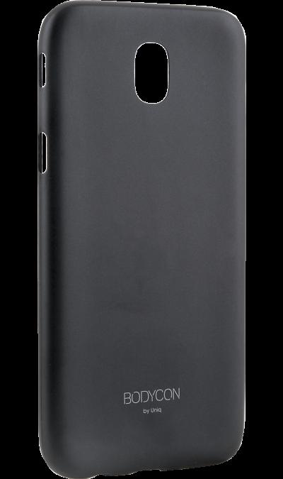 Чехол-крышка Uniq Bodycon для Samsung Galaxy J3 (2017), пластик, черныйЧехлы и сумочки<br>Чехол Samsung поможет не только защитить ваш Samsung Galaxy J3 (2017) от повреждений, но и сделает обращение с ним более удобным, а сам аппарат будет выглядеть еще более элегантным.<br><br>Colour: Черный