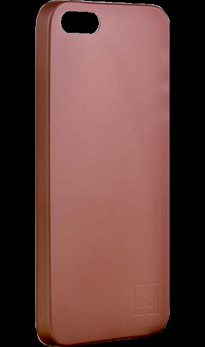 Чехол-крышка Uniq Bodycon для iPhone 5s/SE, пластик, розовое золотоЧехлы и сумочки<br>Чехол Uniq поможет не только защитить ваш iPhone 5s/SE от повреждений, но и сделает обращение с ним более удобным, а сам аппарат будет выглядеть еще более элегантным.<br><br>Colour: Золотистый