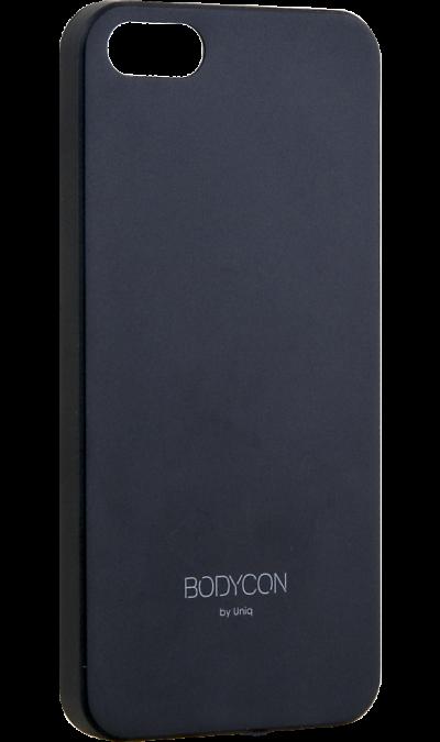 Uniq Чехол-крышка Uniq Bodycon для iPhone 5s/SE, пластик, черный uniq чехол крышка uniq bodycon для iphone 6 6s пластик розовое золото