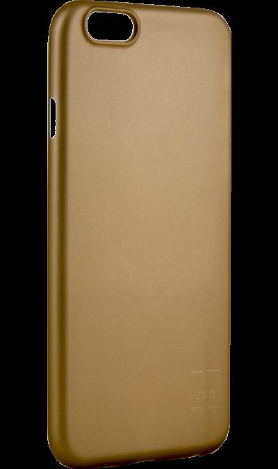 Чехол-крышка Uniq Bodycon для iPhone 6/6s, пластик, золотистыйЧехлы и сумочки<br>Чехол Uniq поможет не только защитить ваш iPhone 6/6s от повреждений, но и сделает обращение с ним более удобным, а сам аппарат будет выглядеть еще более элегантным.<br><br>Colour: Золотистый