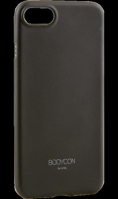Uniq Чехол-крышка Uniq Bodycon для iPhone 7/8, пластик, черный uniq чехол крышка uniq bodycon для iphone 6 6s пластик розовое золото