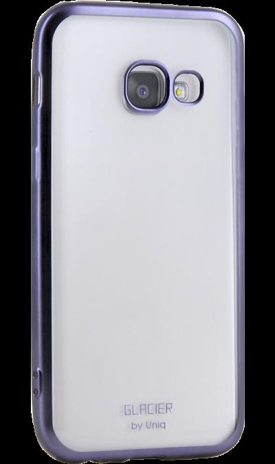 Чехол-крышка Uniq Glacer для Samsung Galaxy A3 (2017), пластик, серебристыйЧехлы и сумочки<br>Чехол Uniq поможет не только защитить ваш Samsung Galaxy A3 (2017) от повреждений, но и сделает обращение с ним более удобным, а сам аппарат будет выглядеть еще более элегантным.<br>