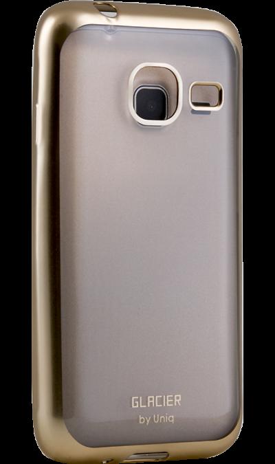 Чехол-крышка Uniq Glacer для Samsung Galaxy J1 Mini (2016), силикон, золотистыйЧехлы и сумочки<br>Чехол Uniq поможет не только защитить ваш Samsung Galaxy J1 Mini  (2016) от повреждений, но и сделает обращение с ним более удобным, а сам аппарат будет выглядеть еще более элегантным.<br>