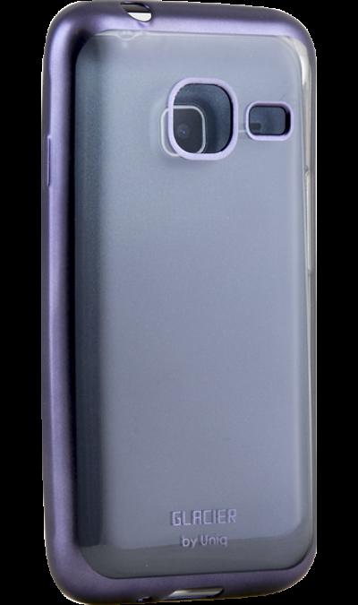 Чехол-крышка Uniq Glacer для Samsung Galaxy J1 Mini (2016), силикон, серебристыйЧехлы и сумочки<br>Чехол Uniq поможет не только защитить ваш Samsung Galaxy J1 Mini  (2016) от повреждений, но и сделает обращение с ним более удобным, а сам аппарат будет выглядеть еще более элегантным.<br>