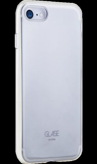 Uniq Чехол-крышка Uniq Glase для iPhone 7/8, силикон, серый чехлы для телефонов uniq чехол uniq для iphone 7 aeroporte gold