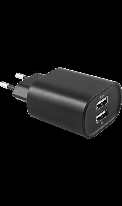 Зарядное устройство сетевое Bron 3.1А (2 USB разъема)Зарядные устройства<br>Сетевое зарядное устройство Bron можно использовать для зарядки аккумуляторов аппаратов. USB кабель в комплект не входит.<br><br>Colour: Черный
