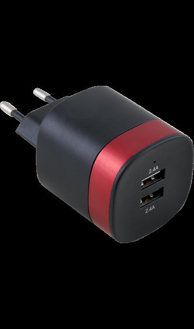 Зарядное устройство сетевое Bron 4.8А (2 USB разъема)Зарядные устройства<br>Сетевое зарядное устройство Bron можно использовать для зарядки аккумуляторов аппаратов. USB кабель в комплект не входит.<br><br>Colour: Черный