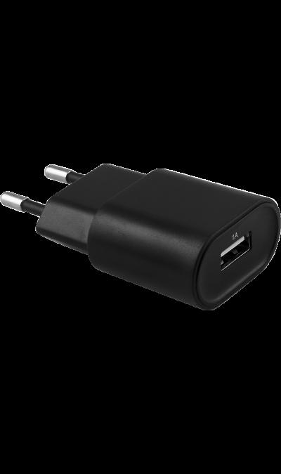 Bron Зарядное устройство сетевое Bron 1А (черное) сетевое зарядное устройство apple usb мощностью 5 вт md813zm a