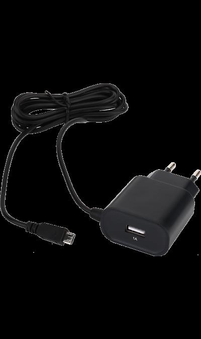 Зарядное устройство сетевое Bron 2.4А (черное)Зарядные устройства<br>Сетевое зарядное устройство Bron можно использовать для зарядки аккумуляторов аппаратов.<br><br>Colour: Черный