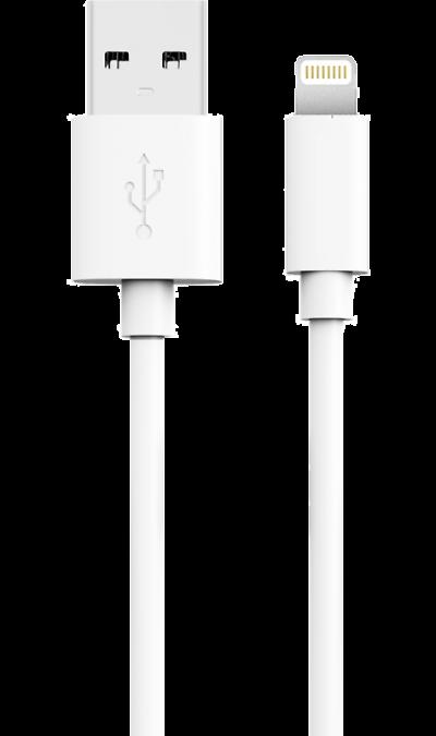 Кабель Bron Lightning MFI (белый)Кабели и адаптеры<br>Кабель зарядки и передачи данных для мобильных устройств с разъемом Lightning.<br>