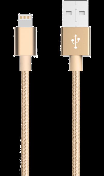 Кабель Bron Lightning MFI (золотистый)Кабели и адаптеры<br>Кабель зарядки и передачи данных для мобильных устройств с разъемом Lightning.<br><br>Colour: Золотистый