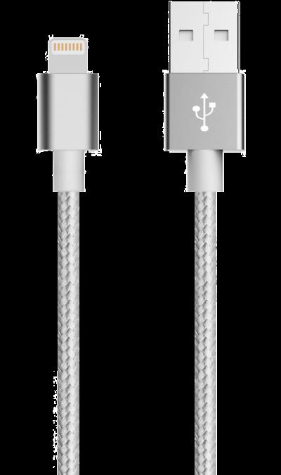 Кабель Bron Lightning MFI (серебристый)Кабели и адаптеры<br>Кабель зарядки и передачи данных для мобильных устройств с разъемом Lightning.<br><br>Colour: Серебристый