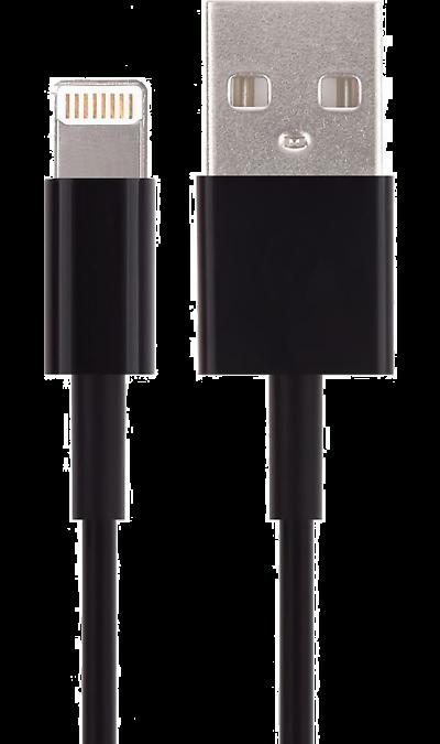 Кабель Bron Lightning MFI (черный)Кабели и адаптеры<br>Кабель зарядки и передачи данных для мобильных устройств с разъемом Lightning.<br><br>Colour: Черный