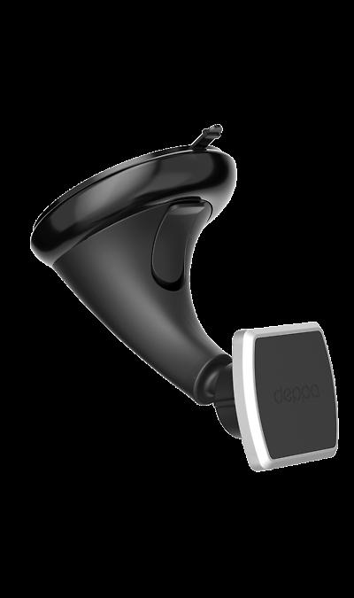 Держатель в автомобиль Deppa Crab Mage магнитный, на стеклоДержатели<br>Полноценное общение с утройством.<br>Современный магнитный держатель Crab Mage позволяет полноценно использовать все функции вашего смартфона, не отрываясь от вождения.<br>Устанавливается на приборную панель автомобиля или лобовое стекло.<br><br>Компактный и универсальный.<br>При эксплуатации держатель почти не заметен- он состоит из небольшой штанги и магнитной головки для удержания смартфонаю.<br>Универсален для всех смартфонов весом до 200 г.<br><br>Прост в ...<br>