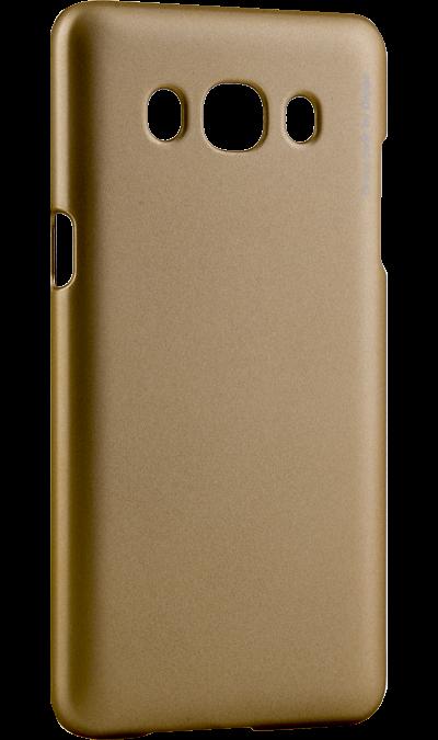 Чехол-крышка Deppa Air Case для Samsung Galaxy J5 (2016), пластик, золотистыйЧехлы и сумочки<br>Чехол Deppa поможет не только защитить ваш Samsung Galaxy J5 (2016) от повреждений, но и сделает обращение с ним более удобным, а сам аппарат будет выглядеть еще более элегантным.<br><br>Colour: Золотистый