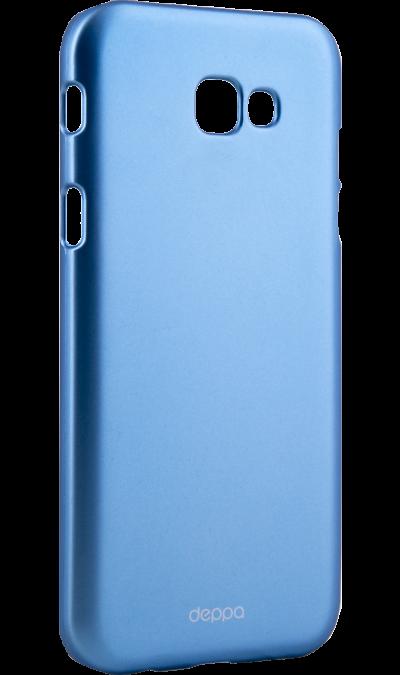 Deppa Чехол-крышка Deppa Air Case для Samsung Galaxy A7 (2017), пластик, голубой deppa чехол крышка deppa air case для samsung galaxy a7 2017 пластик золотистый