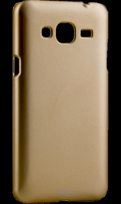 Чехол-крышка Deppa Air Case для Samsung Galaxy J3 (2016), силикон, золотистыйЧехлы и сумочки<br>Чехол Deppa поможет не только защитить ваш Samsung Galaxy J3 (2016) от повреждений, но и сделает обращение с ним более удобным, а сам аппарат будет выглядеть еще более элегантным.<br><br>Colour: Золотистый