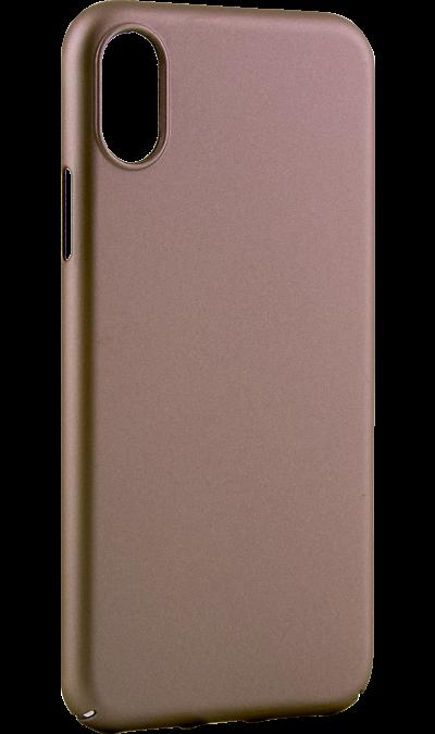 Deppa Чехол-крышка Deppa Air Case для iPhone X, пластик, золотистый чехол аккумулятор deppa nrg case 2600 mah для iphone 7 белый 33520