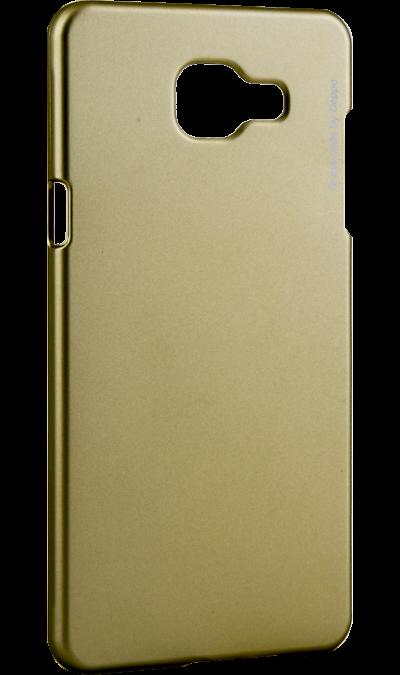Чехол-крышка Deppa Air Case для Samsung Galaxy A5 (2016), пластик, золотистыйЧехлы и сумочки<br>Чехол Deppa поможет не только защитить ваш Samsung Galaxy A5 (2016) от повреждений, но и сделает обращение с ним более удобным, а сам аппарат будет выглядеть еще более элегантным.<br><br>Colour: Золотистый