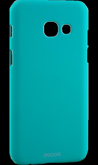 Чехол-крышка Deppa Air Case для Samsung Galaxy A3 (2017), пластик, мятныйЧехлы и сумочки<br>Чехол Deppa поможет не только защитить ваш Samsung Galaxy A3 (2017) от повреждений, но и сделает обращение с ним более удобным, а сам аппарат будет выглядеть еще более элегантным.<br>